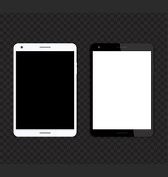 Tablet mockups with blank screens vector