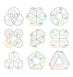 Line circle triangular hexagonal vector