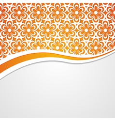 Orange and white floral background vector
