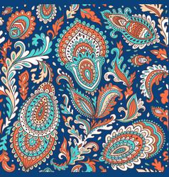 Bohemian indian mandala towel print vintage henna vector