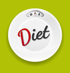 White plate with weight scale vector