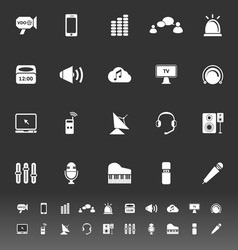 Sound icons on gray background vector