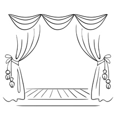 Theater stage sketch vector