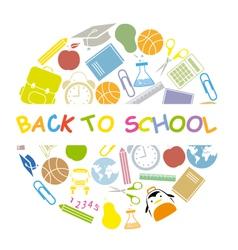 back to school school icons vector image