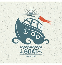 Brave small boat vector