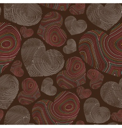 Abstract seamless pattern with hand-drawn hearts vector