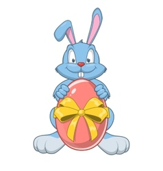 Easter rabbit with eggs vector