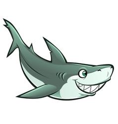 Cheerful shark vector