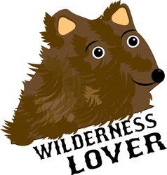 Wilderness lover vector