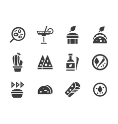 Glyph design icons for mexican food vector