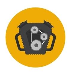 Car engine flat icon vector