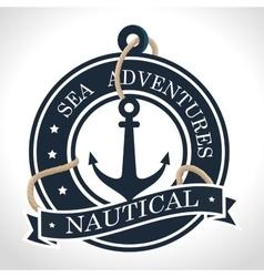 Anchor marine retro icon vector