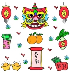 art of Chinese New Year doodles vector image vector image