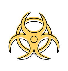Atomic caution signal icon vector