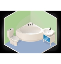Bathroom isometric flat 3d vector