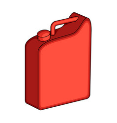 Canister for gasolineoil single icon in cartoon vector