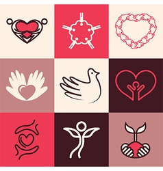 Charity logo icons vector