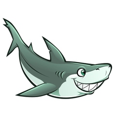 cheerful shark vector image vector image
