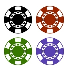 Empty Color Casino Poker Chips Set vector image vector image