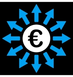 Euro payments icon vector