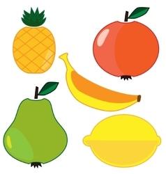 fruits set vector image vector image