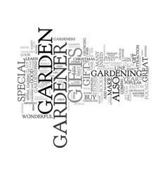Gifts for the gardener text background word cloud vector