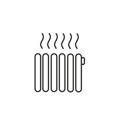 heating icon vector image