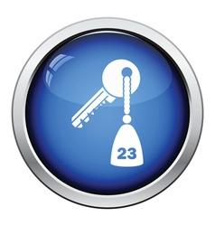 Hotel room key icon vector image