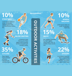 Infographics with people vector