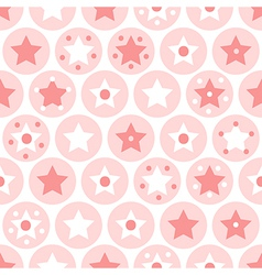 Kids seamless pattern on white background vector image vector image