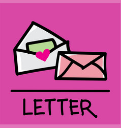 letter hand-drawn style vector image