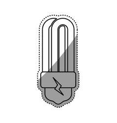 Light bulb fluorescent electric symbol vector