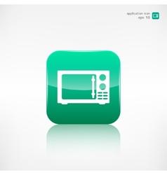 Microwave icon kitchen equipment vector