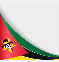 mozambique flag background vector image vector image