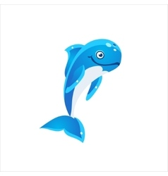 Pilot whale icon vector