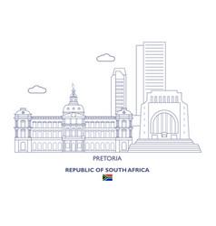 Pretoria city skyline vector