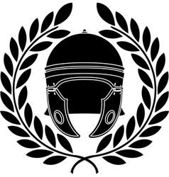 roman helmet stencil second variant vector image