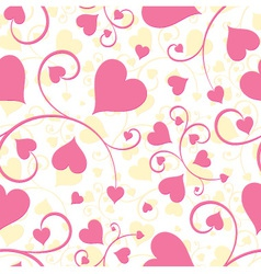 seamless background heart vector image vector image