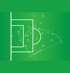 Soccer or football game strategy plan vector