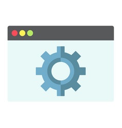 web optimization flat icon seo and development vector image vector image