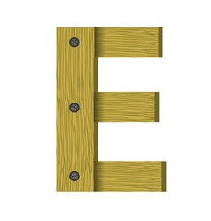 wood letter E vector image