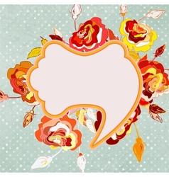 Vintage floral frame eps 8 vector