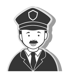 Icon man policeman security isolated vector