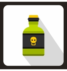 Poison bottle icon flat style vector
