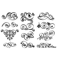 Decorative design elements calligraphic elements vector