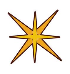 Star burst isolated icon vector