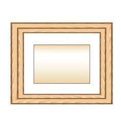 wood photo framework vector image