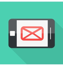 Smartphone flat design letter message icon vector