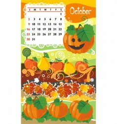 calendar october vector image