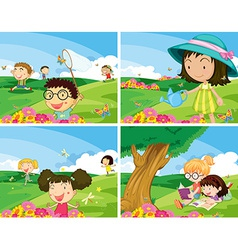 Children outdoor vector